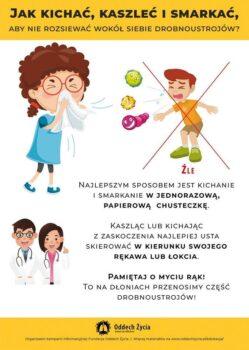 Jak nierozsiewać drobnoustrojów