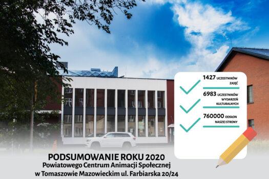 Powiatowe Centrum Animacji Społecznej podsumowanie 2020