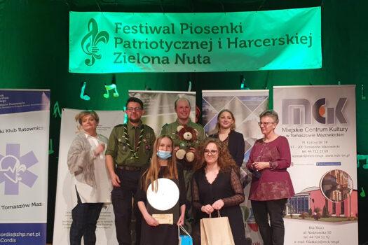 """Wyśpiewały nagrody podczas Festiwalu Piosenki Patriotycznej iHarcerskiej """"Zielona Nuta"""" 2021🎶🎶"""